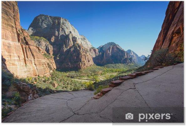 Plakát Nádherný výhled na Zion Canyon / přistání andělů cesta / - Pouště