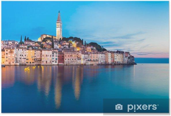 Plakat Nadmorskiej miejscowości Rovinj, Istria, Chorwacja. - Tematy