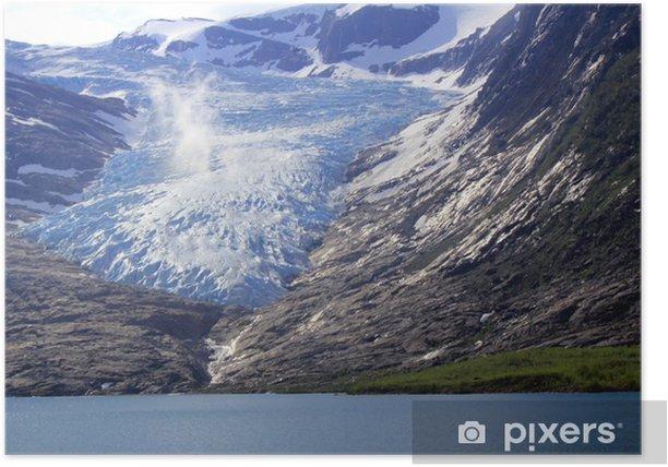 Plakat Najniższy w Europie lodowiec - Biegun Północny i Południowy
