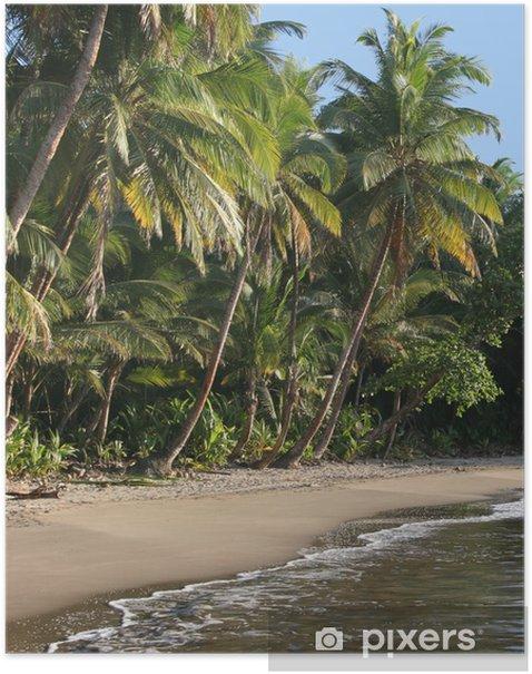 Plakat Najpiękniejsza plaża w Dominika, Batibou plaży - Ameryka
