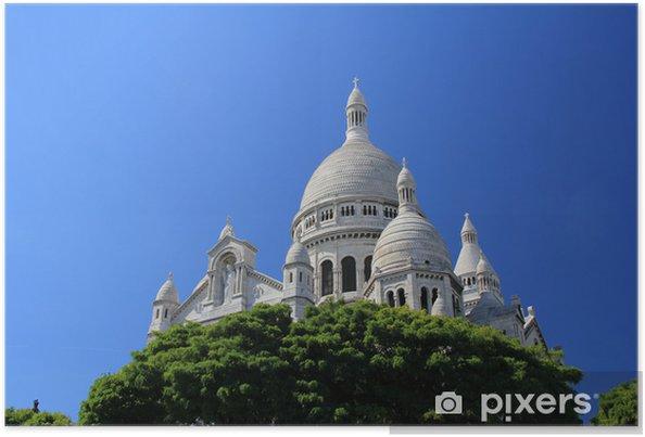 Plakat Najświętszego Serca Pana Jezusa w Paryżu - Miasta europejskie