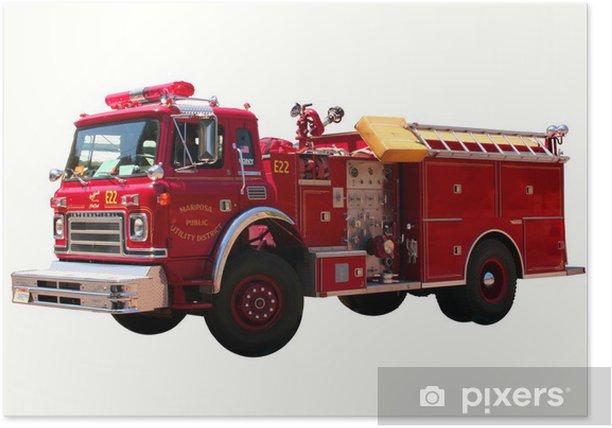 Plakat Nam firetruck - Transport drogowy