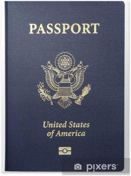 Plakat Nam paszport na białym tle - Znaki i symbole