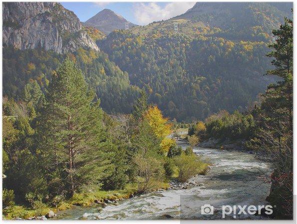 Plakát Národního parku Ordesa a Monte Perdido - Roční období