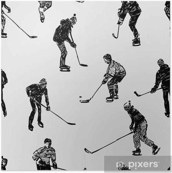 Plakat Nastolatków Grających W Hokeja