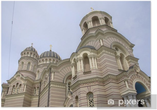 Plakát Nativity of Christ ortodoxní katedrála v Rize (Lotyšsko) - Asie