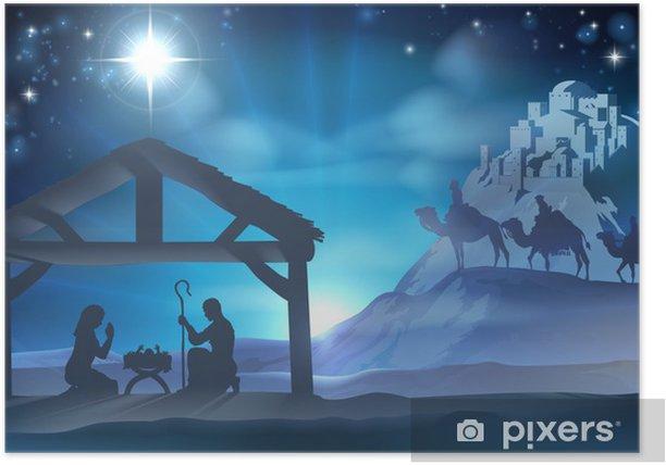 Plakat Nativity Scene Boże Narodzenie - Religia i kultura