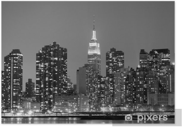 Plakat New York City At Night Lights, Midtown Manhattan -