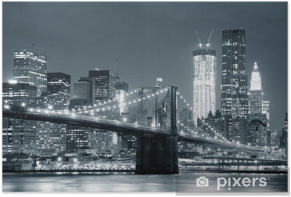 Plakat New York City Brooklyn Bridge -