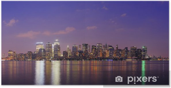 Plakat New York City Manhattan panorama o zmierzchu - Ameryka