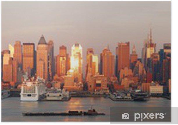 Plakát New York City Manhattan skyline panorama - Amerika