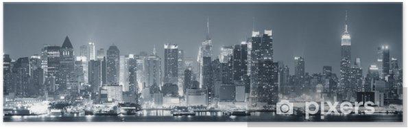 Plakat New York City Manhattan w czerni i bieli - Tematy
