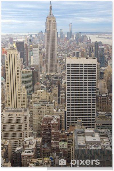Plakát New York city scénické zobrazení - Americká města