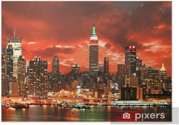 Plakát New York City Skyline - New York