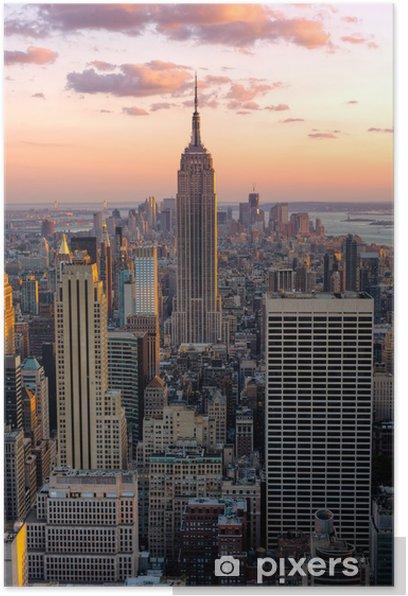 Plakat New York, Empire State Building -
