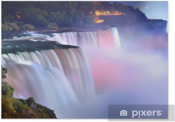 Plakat Niagara Falls w kolorach - Tematy