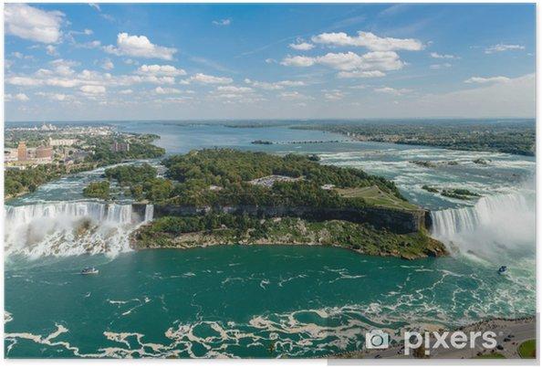 Plakat Niagara Falls widok z platformy wieży Skylon - Woda