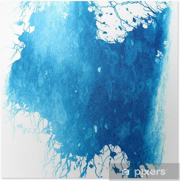 Plakat Niebieska farba - Tła