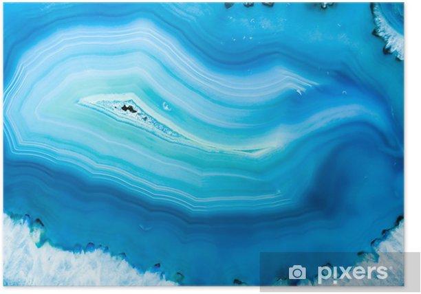 Plakat Niebieski agat - iStaging