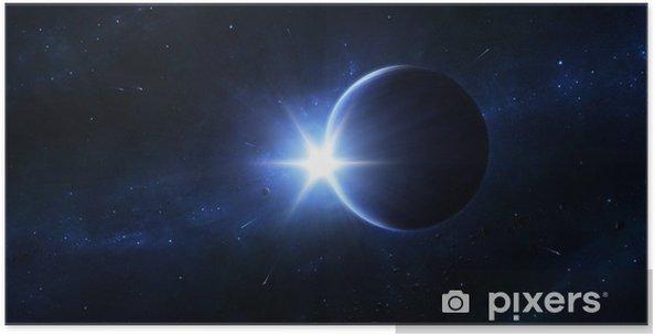 Plakat Niebieski Eternity - Przestrzeń kosmiczna