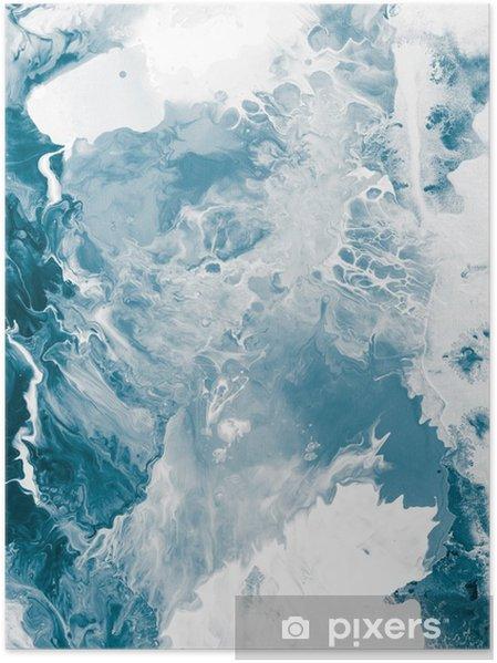 Plakat Niebieski tekstury marmuru -