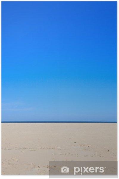 Plakat Niebieskie niebo z plaży i oceanu - Woda