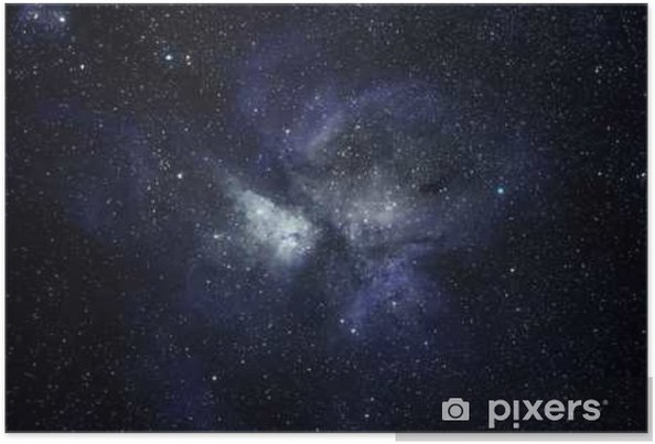 Plakat Niebieskie tło przestrzeni - Nauka