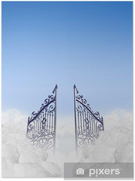 Plakat Niebiosa Gates w chmurach - Niebo