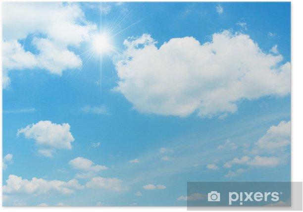Plakat Niebo podświetlenie - Niebo
