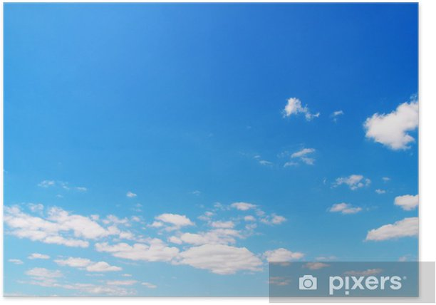 Plakat Niebo w tle - Niebo