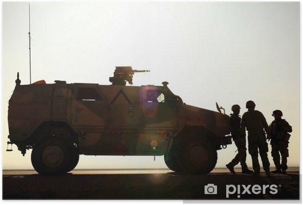 Plakat Niemiecka armia w Afganistanie - Ludzie w pracy