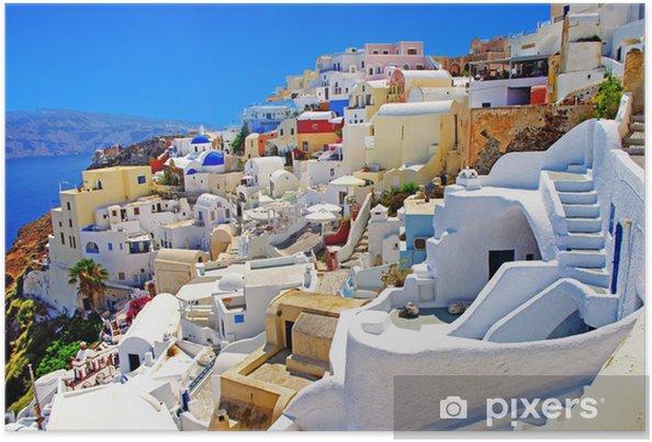 Plakat Niesamowite Santorini - Tematy