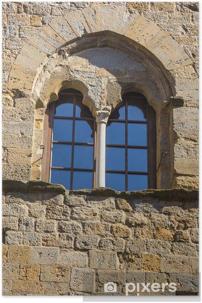 Plakat Niski kąt widzenia okna pałacu - Criteo