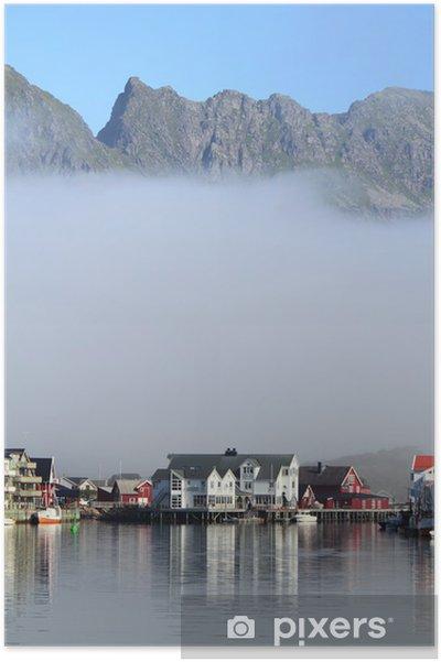 Plakát Nízké mraky na Henningsvær - Severní a jižní pól