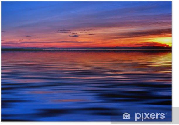Plakat Noc na morzu - Woda