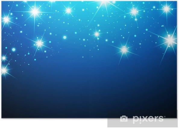 Plakat Noc Star Background - Tematy
