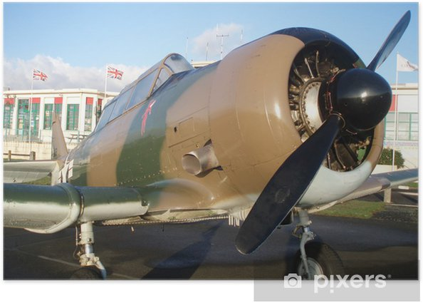 Plakát North American T-6 - Vzduch