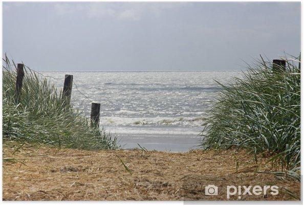 Plakat North Sea beach - Wakacje