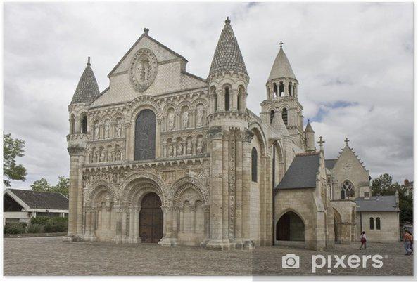 Plakát Notre Dame La Grande, Poitiers, Francie - Veřejné budovy