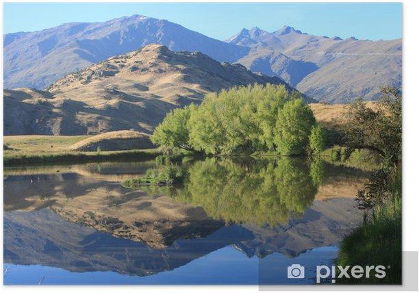 Plakát Nový Zéland horské jezero - Příroda a divočina