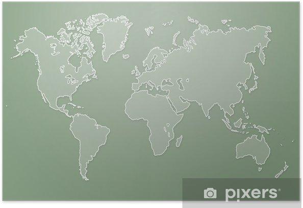 Plakat Nowoczesny ilustracji mapa świata - Tła