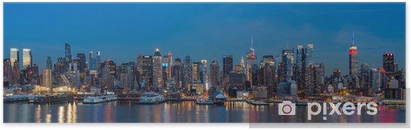 Plakat Nowy Jork panorama na Dzień Prezydenta. - Nowy Jork