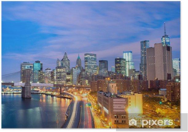 Plakat Nowy Jork w nocy - Tematy