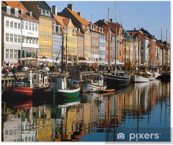 Plakát Nyhavn, Kodaň - Dánsko - Infrastruktura