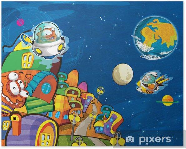 Plakat Obcy - ufo - dla dzieci -
