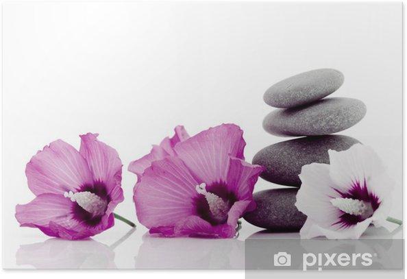 Plakát Oblázková s Ibiscus květinou - Náboženství