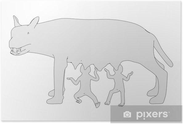 Plakat Obraz animowany roman wilka - Znaki i symbole