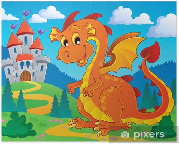 Plakat Obraz motyw smoka 9 - Dla przedszkolaka
