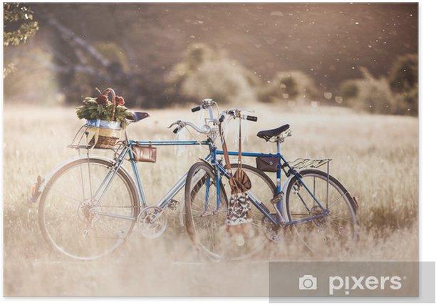 Plakat Obraz piękny krajobraz z roweru - Transport drogowy