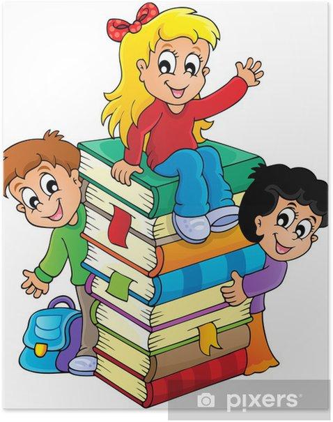 Plakat Obraz tematyczna 4 dzieci - Naklejki na ścianę